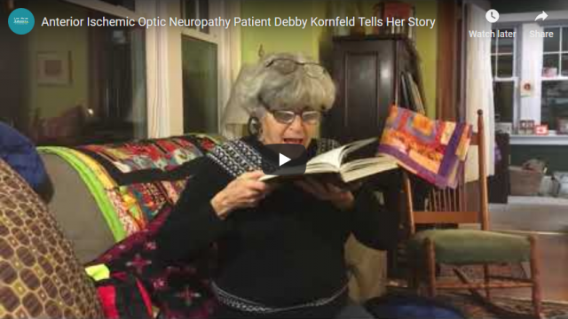 Screenshot 2019 03 13 Anterior Ischemic Optic Neuropathy Patient Debby Kornfeld Tells Her Story YouTube